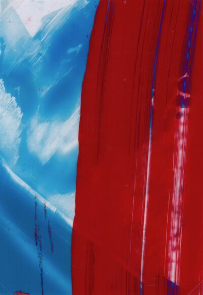 Red and Blue (i)  by Celestine Thomas, Acrylic on Acetate