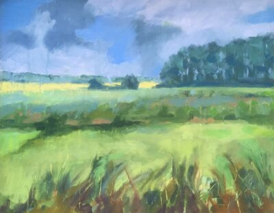Suffolk Wetlands by Margaret Crutchley, Acrylic on paper