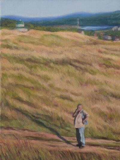 On a walk by Diana Sandetskaya, Oil on canvas
