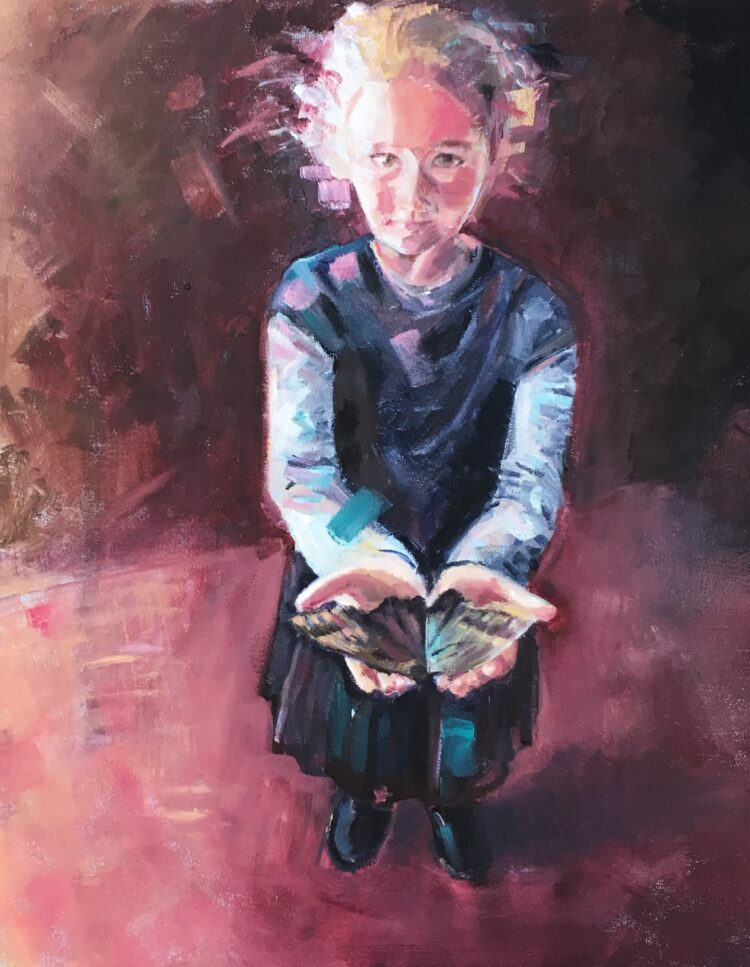 Butterfly by Ayse McGowan, Oil on canvas
