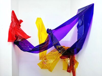 Untitled (i) by Celestine Thomas, Cellophane and tape