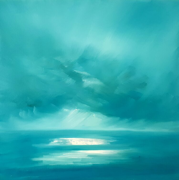 Turquoise Skies  by Helen Robinson, Oil on canvas board