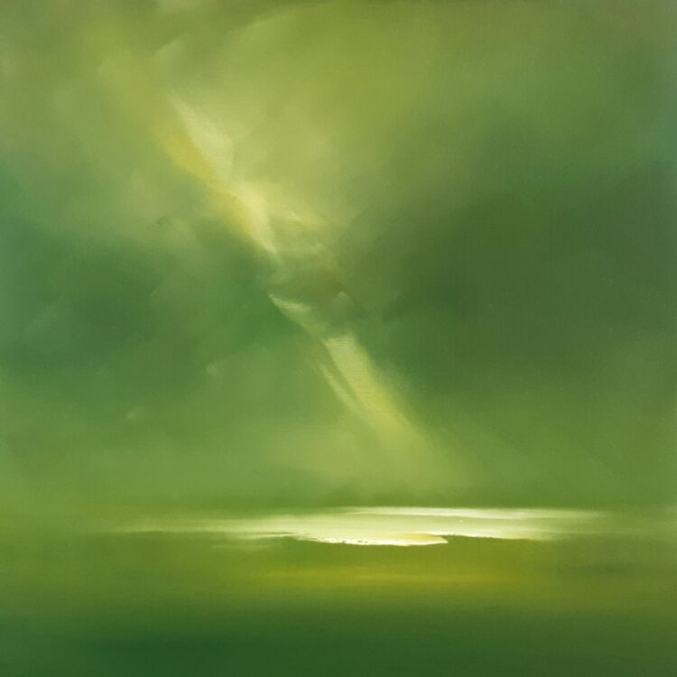 The Green Flash by Helen Robinson, Oil on canvas board