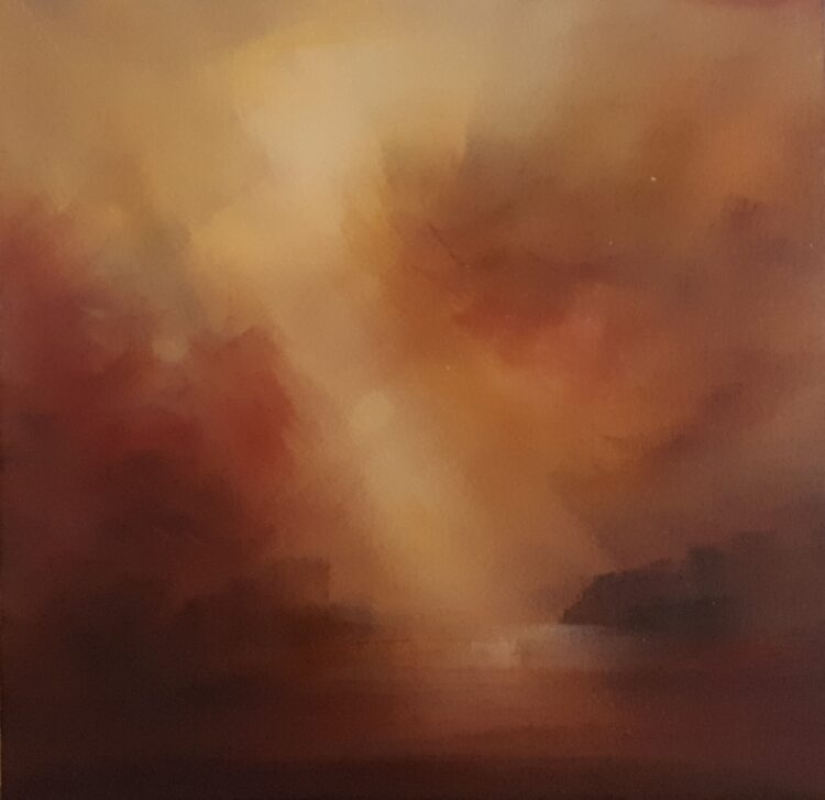Gold Lights by Helen Robinson, Oil on canvas board
