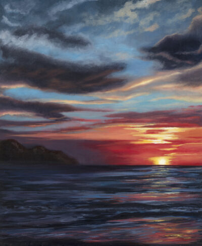 Pacific Sunset IV by Diana Sandetskaya, Oil on canvas