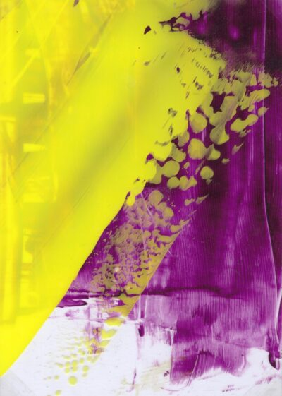Yellow and Purple (ii) by Celestine Thomas, Acrylic on Acetate