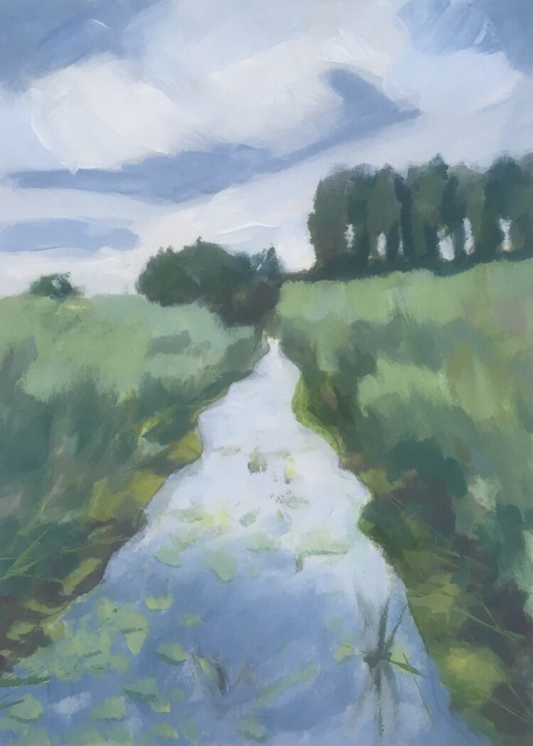 Edge of Minsmere by Margaret Crutchley, Acrylic on paper