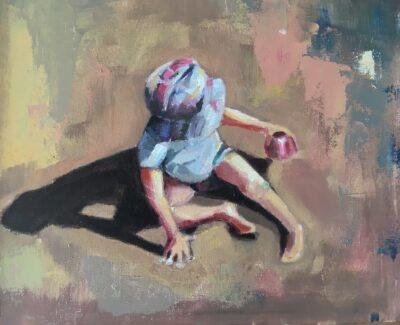 Beech Boy by Ayse McGowan, Oil on canvas board