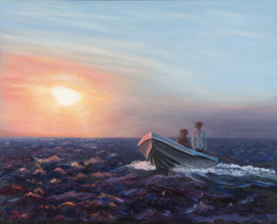 Fisherman's Dawn II by Diana Sandetskaya, Oil on canvas