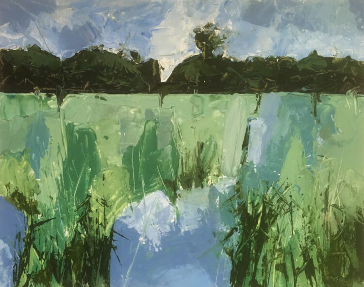 Minsmere I  by Margaret Crutchley, Acrylic on paper