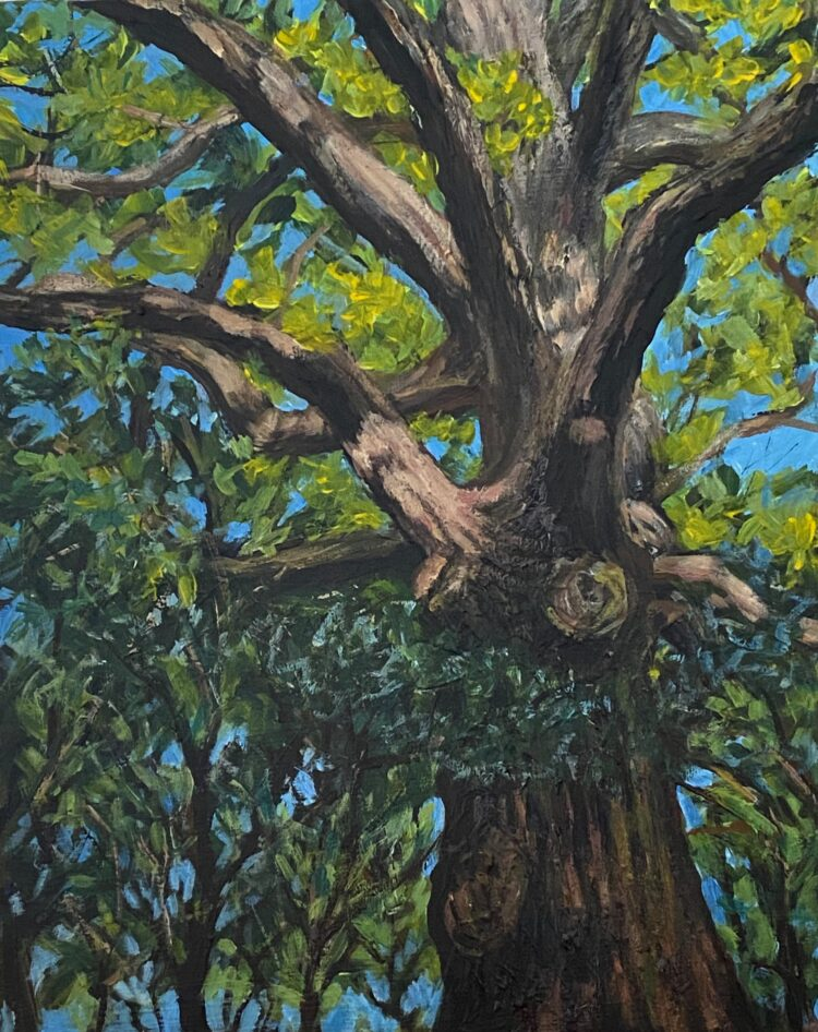 Arrandene Tree by Diana Sandetskaya, Acrylic on wooden panel