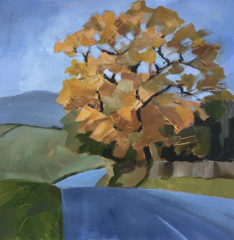 Autumn Oak by Margaret Crutchley, Acrylic on paper