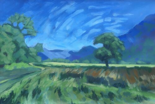 Margaret Crutchley 'Bright and Breezy' Acrylic on paper