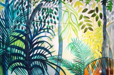Cahuita National Park by Alice Gavin Atashkar, Watercolour on paper