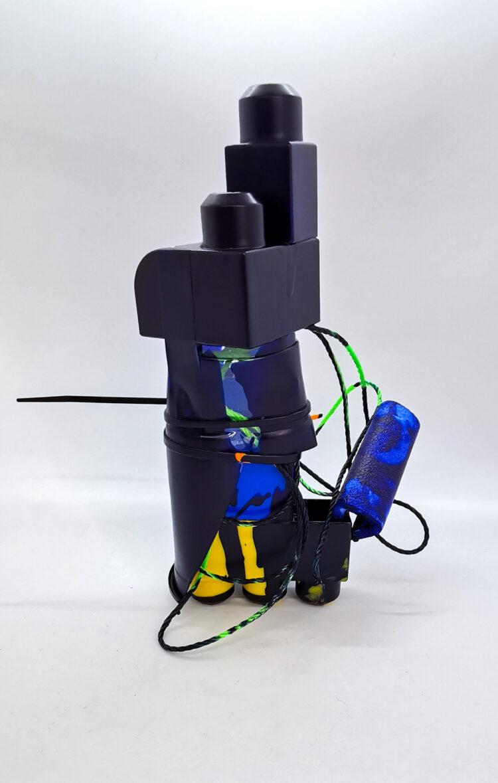 Lama by Celestine Thomas, Mega Bloks, Tape, Cable Tie, Plastic Cup, Nylon Rope, Foam, and Acrylic Paint