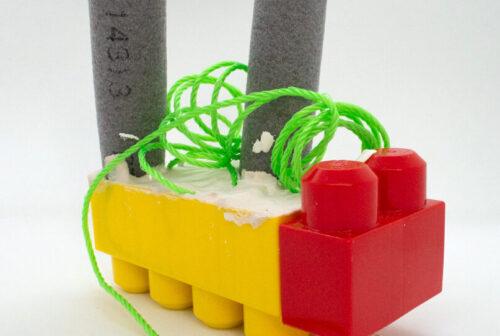 Celestine Thomas 'Pet' Mega Bloks, Plaster of Paris, Nylon Rope and Foam