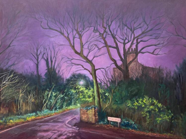 Corner of Page Street by Diana Sandetskaya, Oil on cradled gesso board