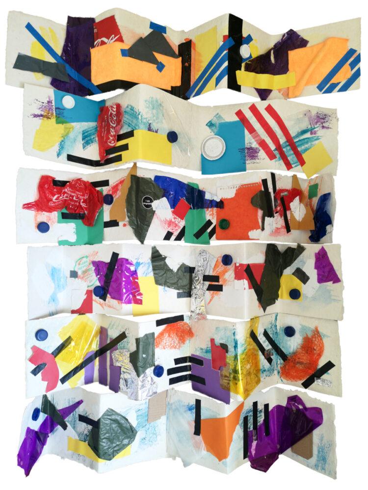 Covid -19 Series Sketchbooks by Celestine Thomas, Mix Media on Eco Paper