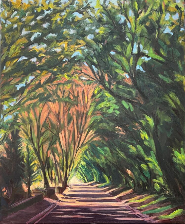 Driving Down Hendon Wood Lane III by Diana Sandetskaya, Oil on canvas