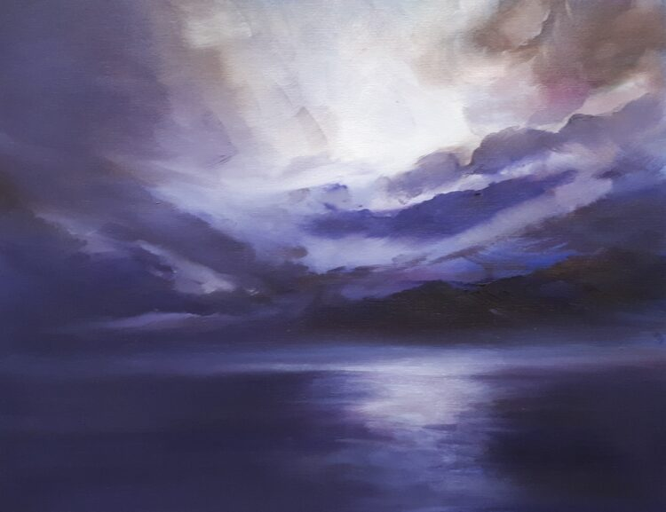 Evening Passage by Helen Robinson, Oil on board