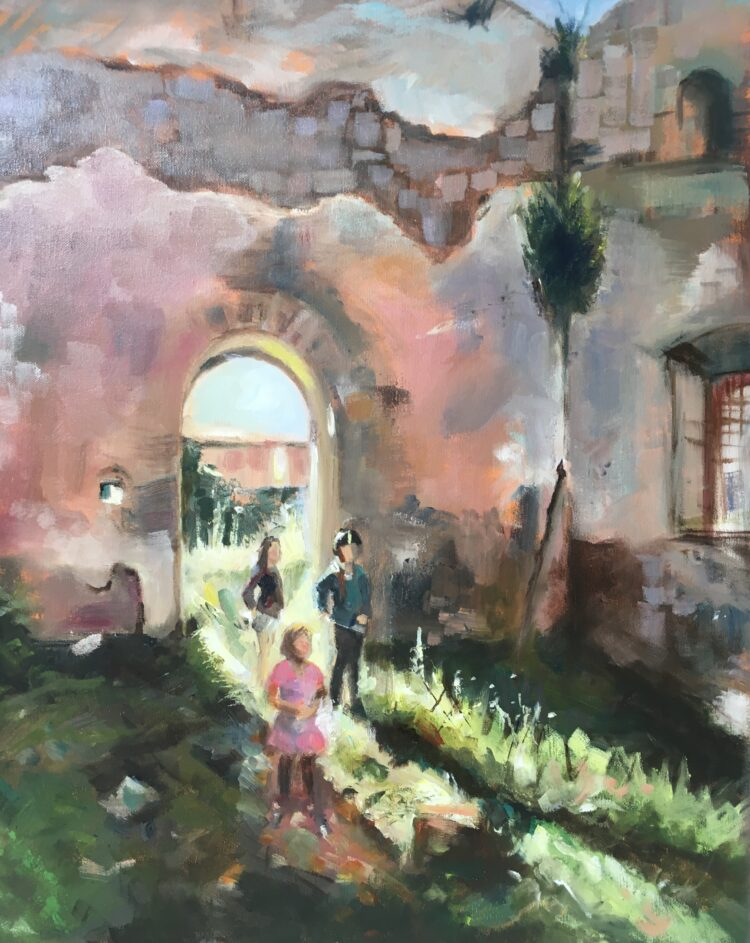 Exploring ruins by Ayse McGowan, Oil on canvas