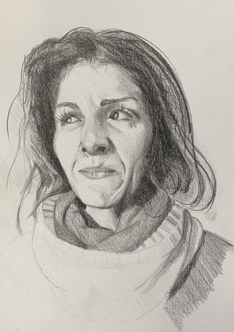 Ayfer by Jacqui Grant, Pencil on paper