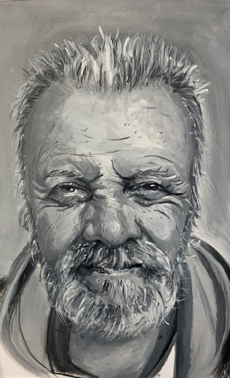 George by Jacqui Grant, Oil on board
