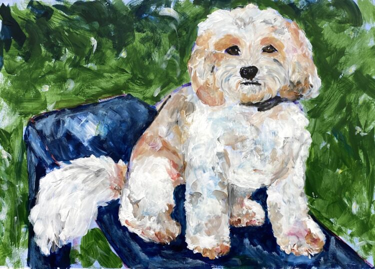 Rory by Michelle Karpus, Acrylic on paper