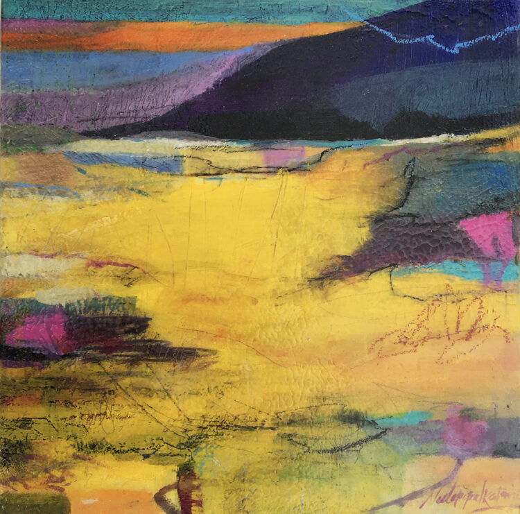Breathing Fields by Neeta Popat Kataria, Acrylic on panel