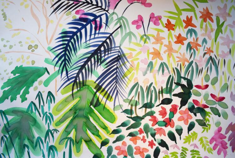 Kew Orchids by Alice Gavin Atashkar, Watercolour on paper