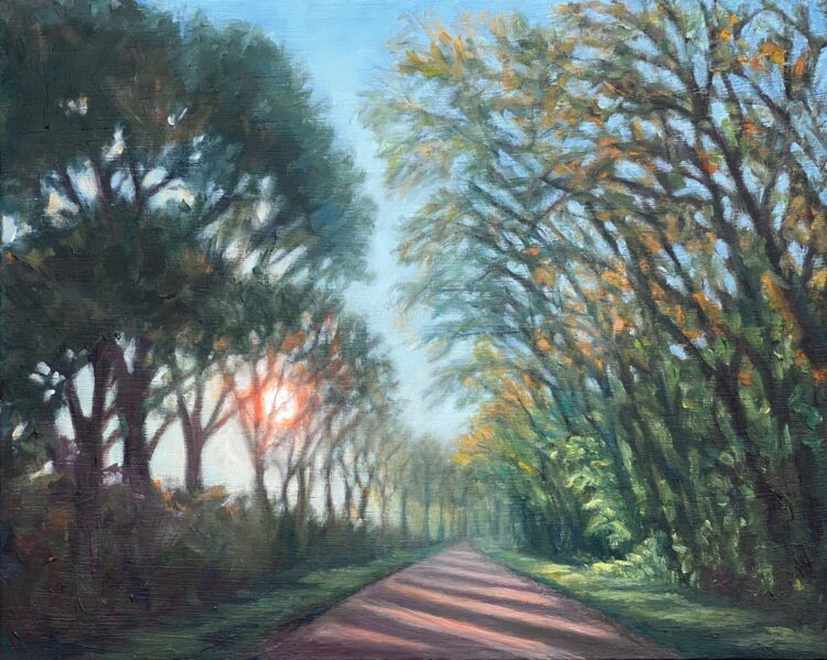 Light on Silver Hill by Diana Sandetskaya, Oil on wooden panel