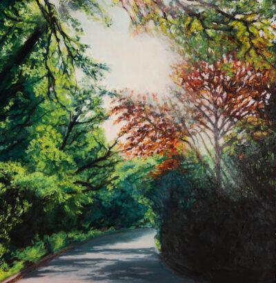 Light on the Ridgeway by Diana Sandetskaya, Oil on board