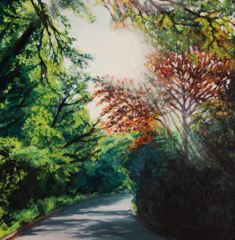 Light on the Ridgeway by Diana Sandetskaya, Oil on board