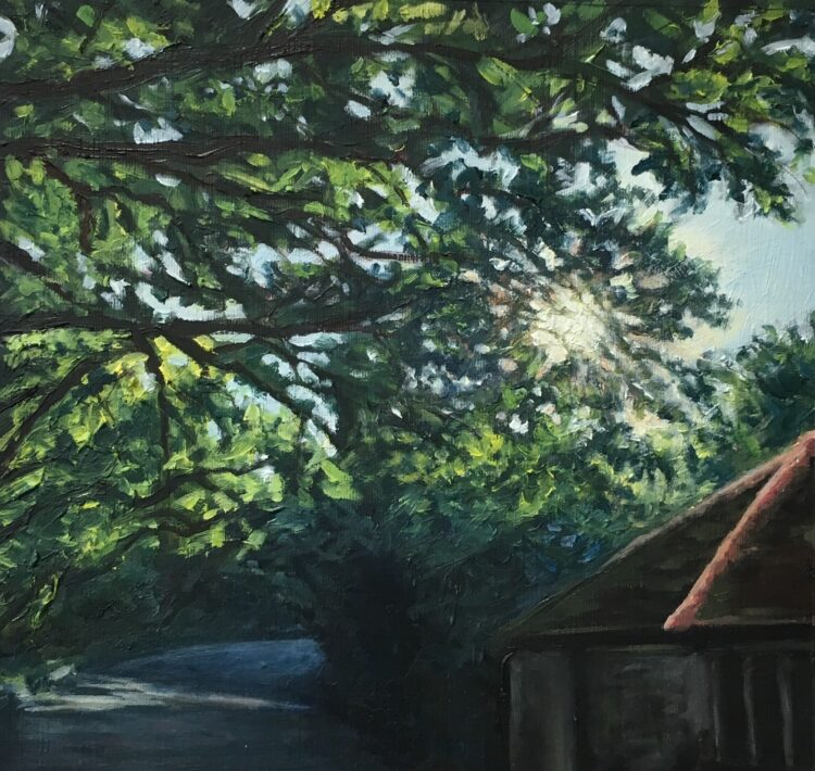 Light on the Ridgeway II by Diana Sandetskaya, Oil on paper