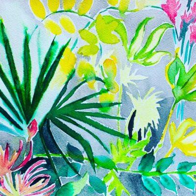 London Garden Study 2 by Alice Gavin Atashkar, Watercolour on paper