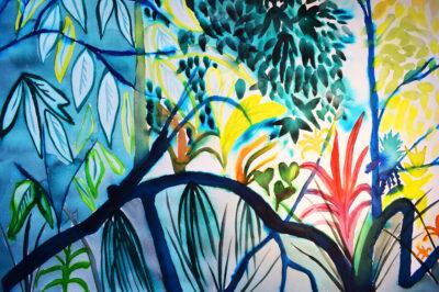 Mangrove Study 2 by Alice Gavin Atashkar, Watercolour on paper