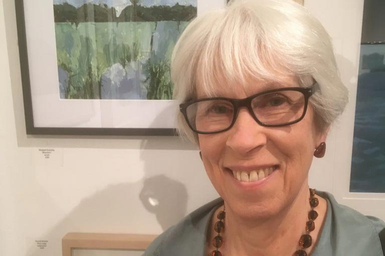 Margaret Crutchley, artist, RWS Contemporary Watercolour Competition at the Bankside Gallery