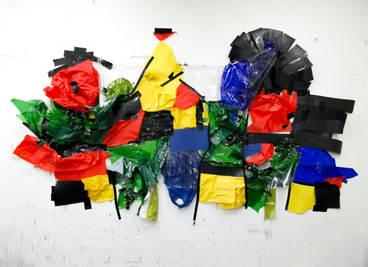 Miros Lost Work by Celestine Thomas, Mix Media on Studio Wall