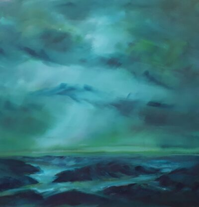 Mist across the marsh by Helen Robinson, Oil on canvas board
