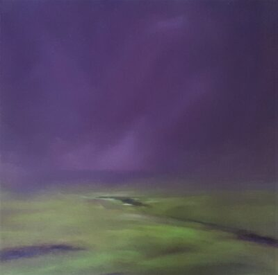 Mist closing in on the Moors by Helen Robinson, Oil on board