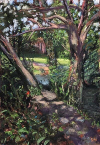 Dappled light by Dawn Limbert, Pastel on paper