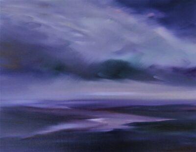 Purple Haze by Helen Robinson, Oil on canvas board