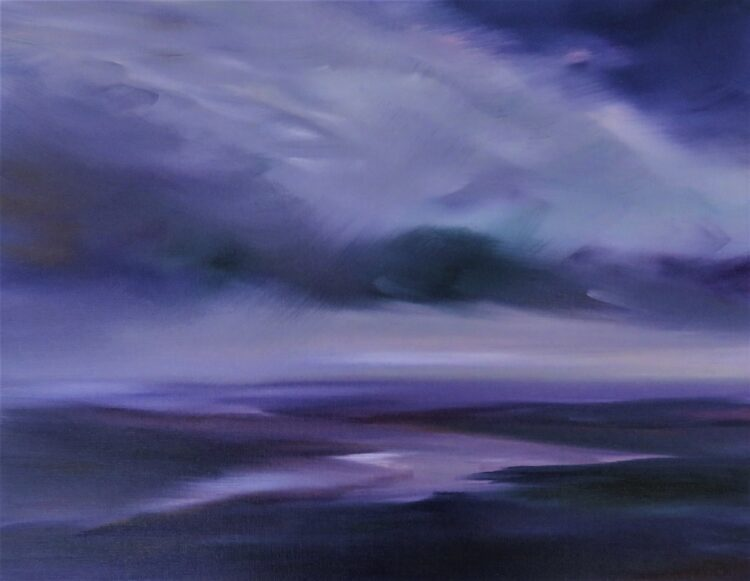 Purple Haze by Helen Robinson, Oil on canvas board