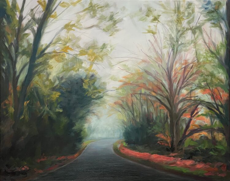 Shenleybury in Fog by Diana Sandetskaya, Oil on canvas