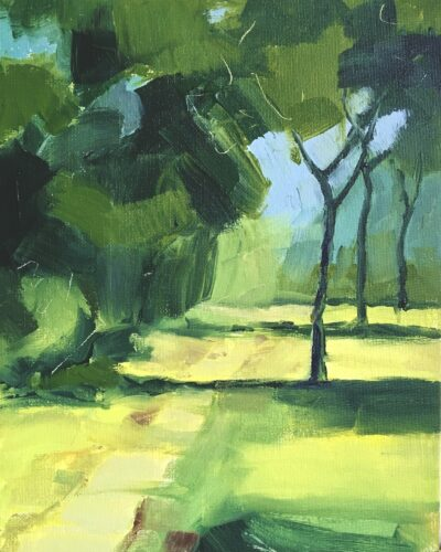 St James's Park II by Margaret Crutchley, Acrylic on canvas board