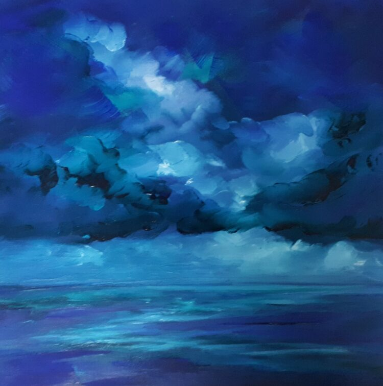 Storm Clouds by Helen Robinson, Oil on board