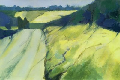 Summer Bank (small) by Margaret Crutchley, Acrylic on paper