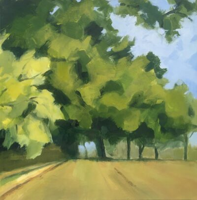 Summer Trees, Trent Park (small) by Margaret Crutchley, Acrylic on paper