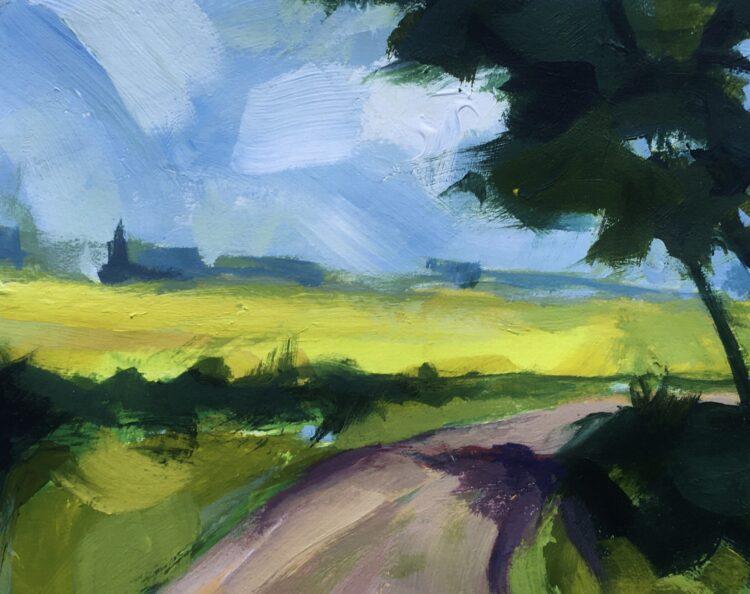 Summer Walk by Margaret Crutchley, Acrylic on Paper