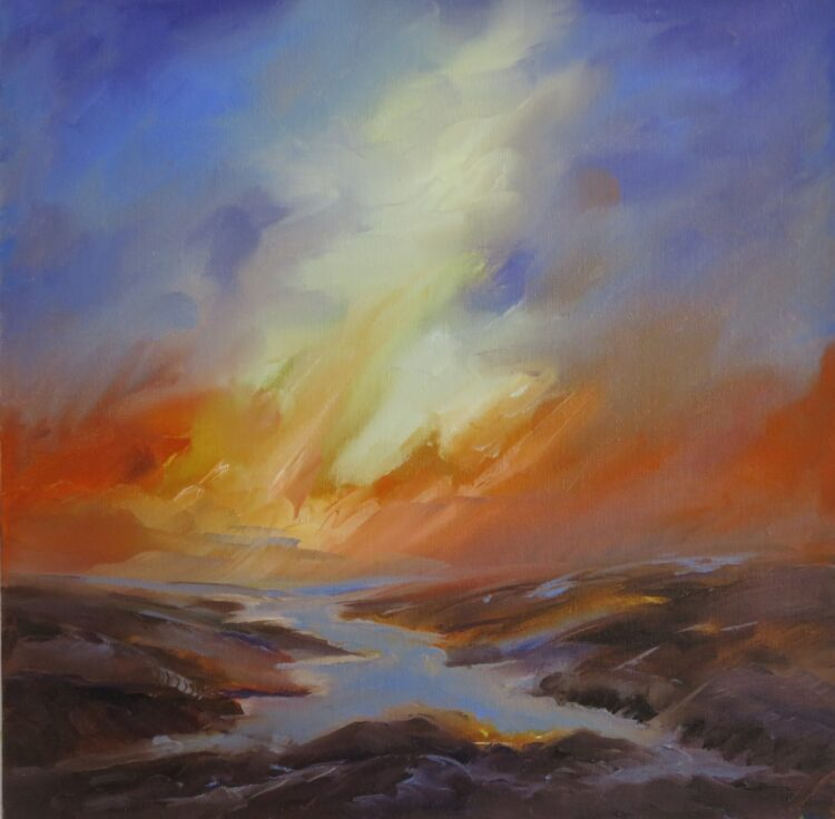 Sunburst by Helen Robinson, Oil on canvas board